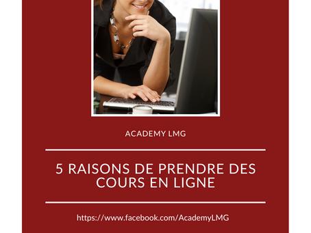 5 RAISONS DE FAIRE DES COURS EN LIGNE