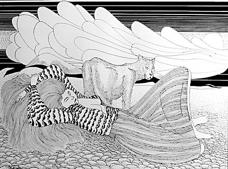 Woman and Puma