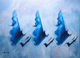 Perfiles en azul