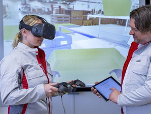 VR Training for logistics processes at Audi