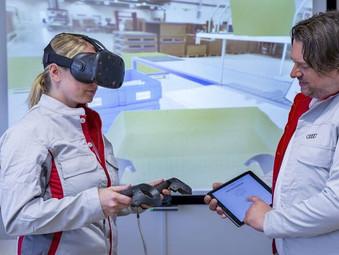 VR Training for logistics processes at Audi