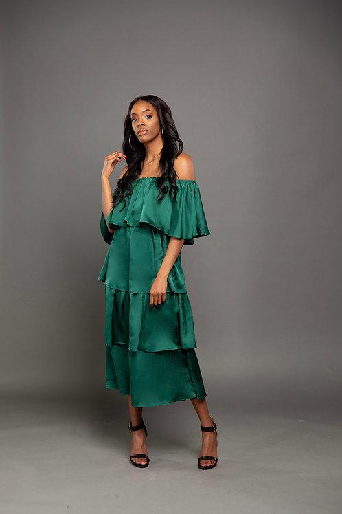 Green Layered Dress
