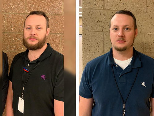 Teachers and staff participate in bearded charity fundraiser