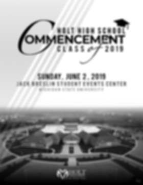 Commencement Program 2019 - Front Cover.