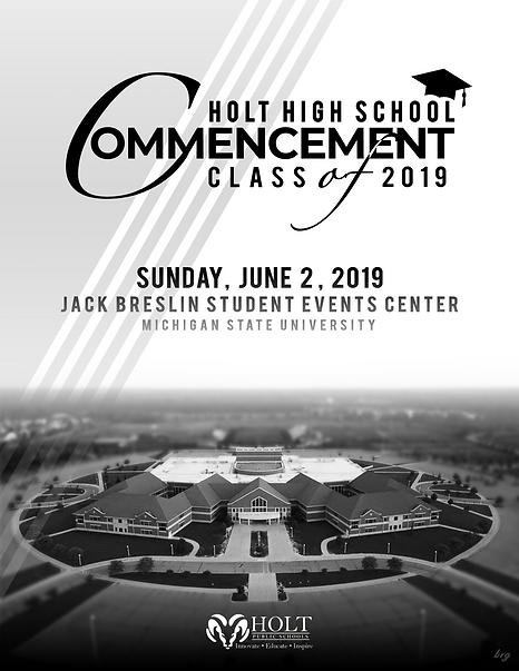 Commencement Program 2019 - Front Cover.
