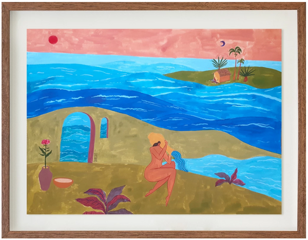Na água, ao pôr do sol (na Galeria Trapézio)