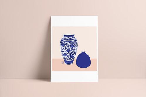 Dois vasos azuis :: digital