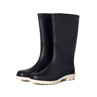 Black Rubber Wellies