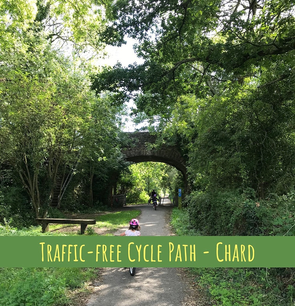 Child friendly cycle path in South Somerset, Chard