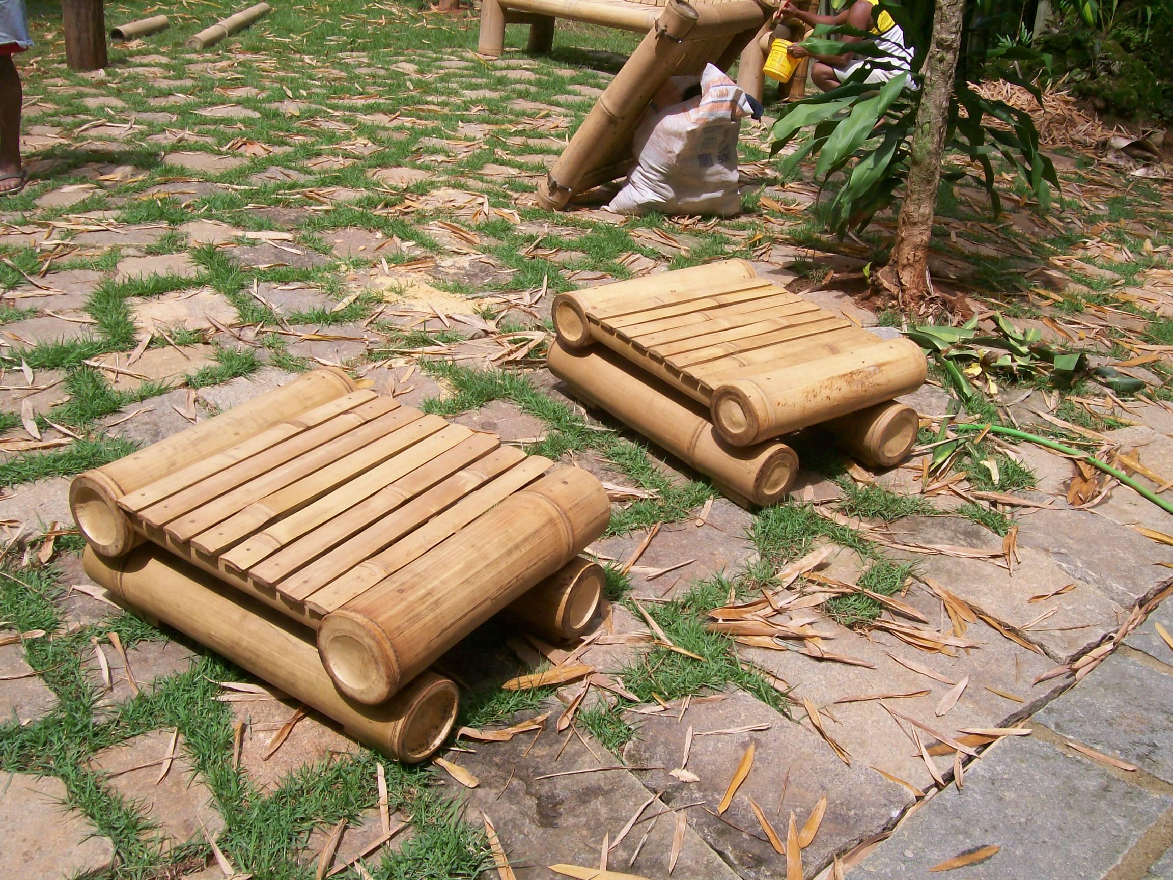 puf de bambu