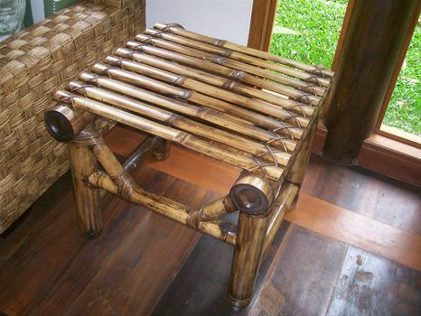 mesa de bambu