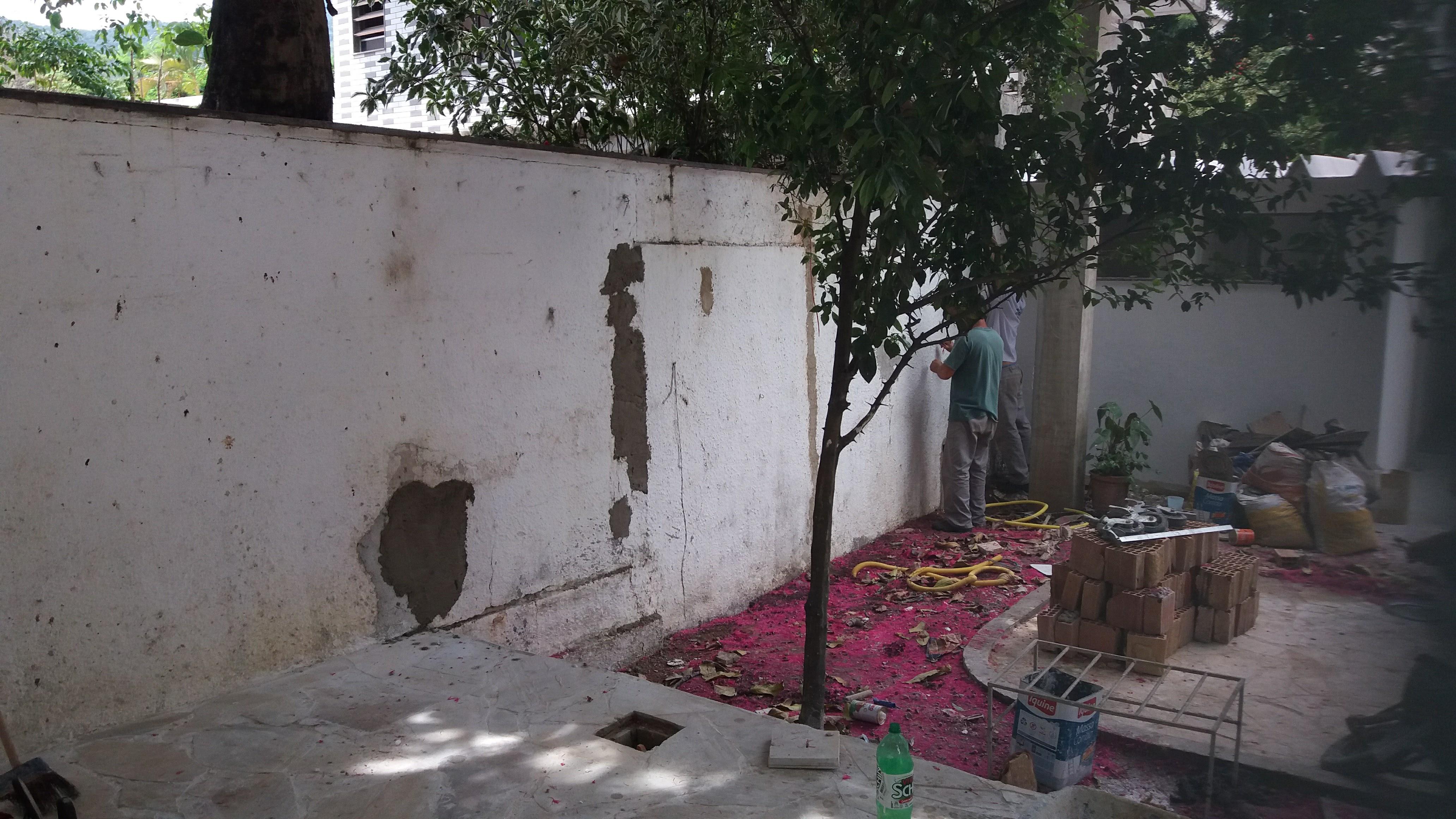 muro antes de revestir