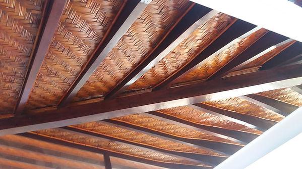 forro de bambu taquara trançado em escamas de peixe