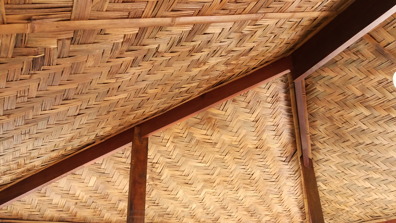 forro de bambu taquara trançado