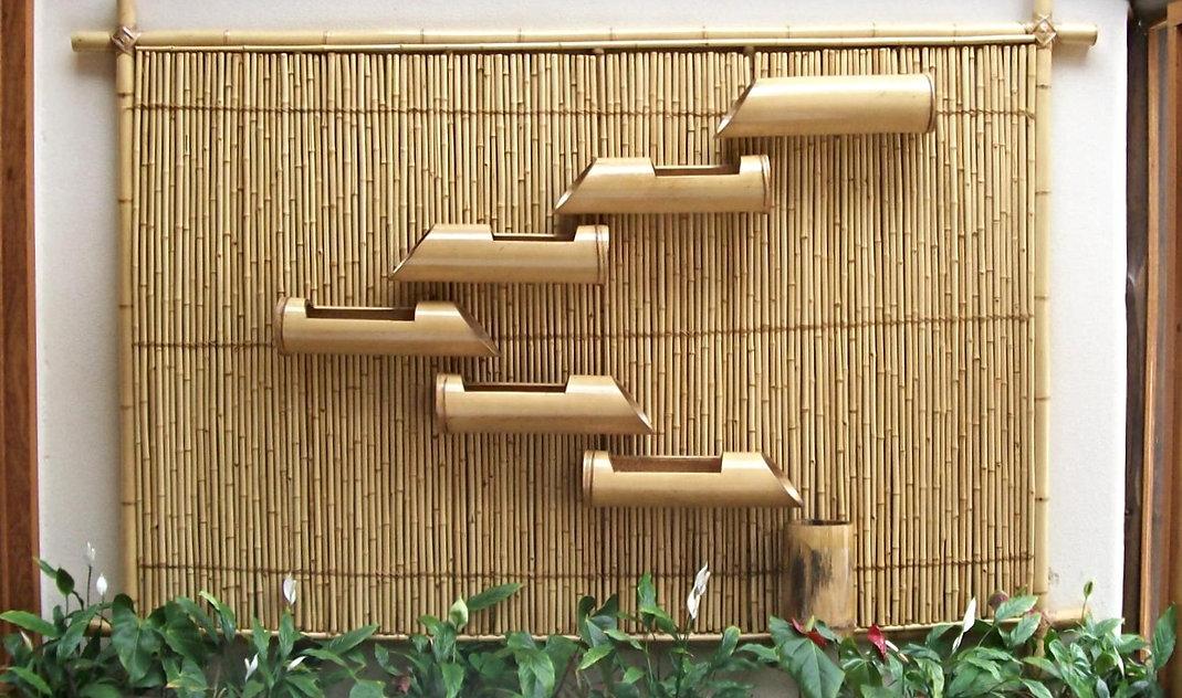 painel de bambu para plantas