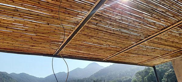 forrro de bambu teto