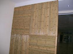 divisoria e painel de bambu