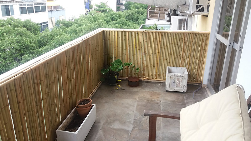 painel de bambu para apartamento