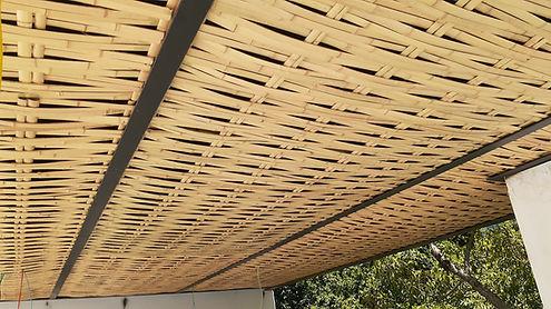 forro de bambu para telhado