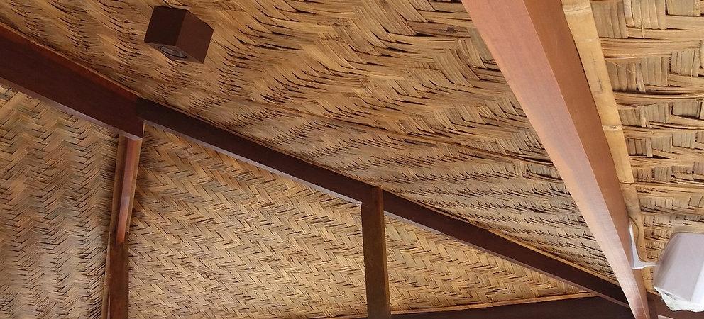 forro de bambu taquara trançado em escamas