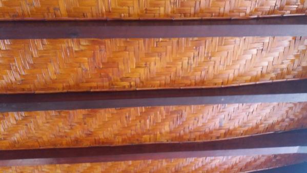 forro de bambu taquara em escamas