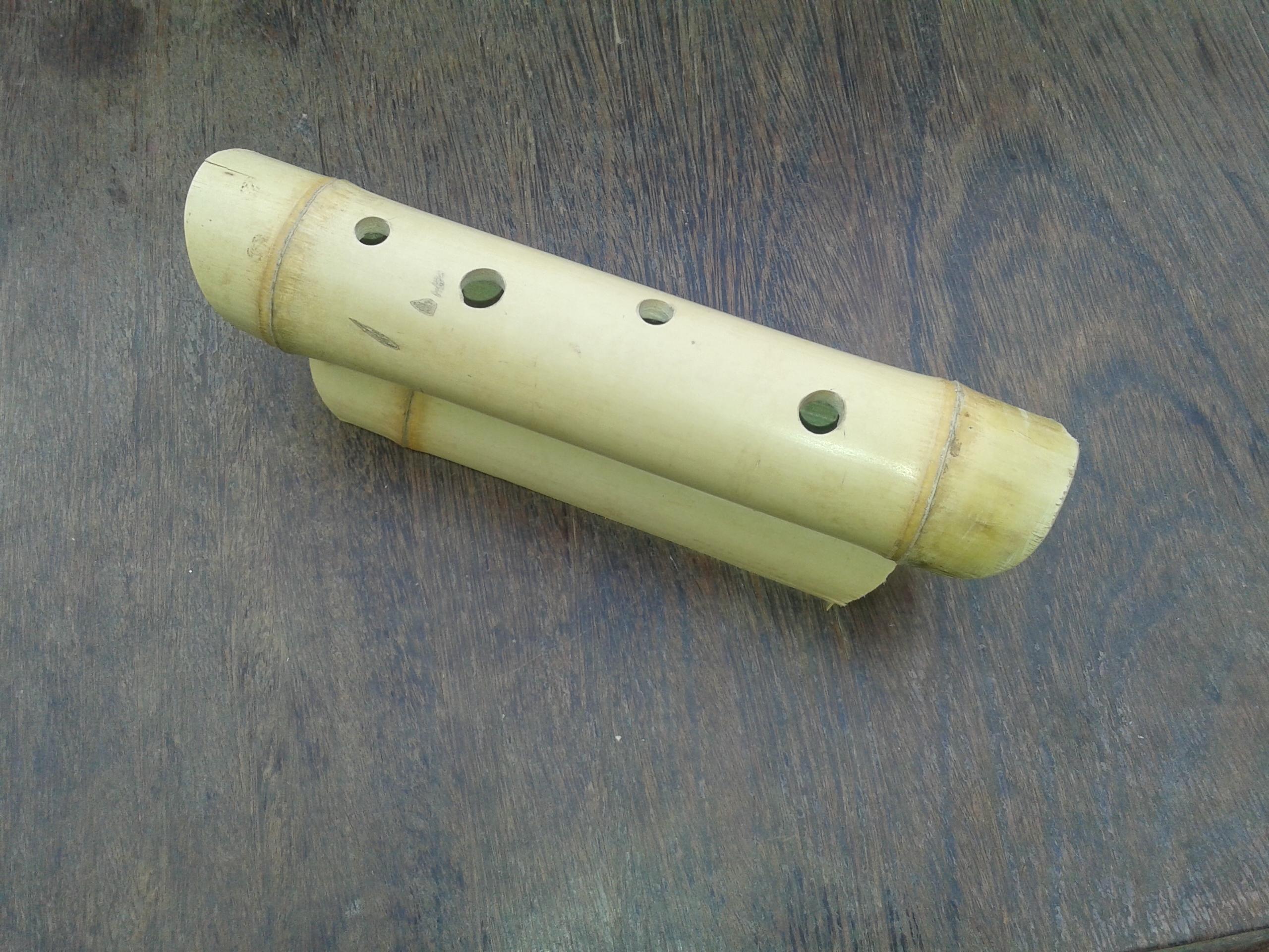 porta caneta de bambu