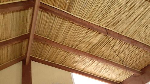 forro de bambu para teto