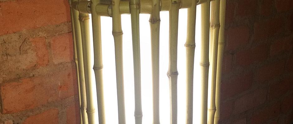 Arandela de bambu para teto