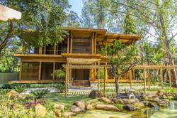 pergola de bambu