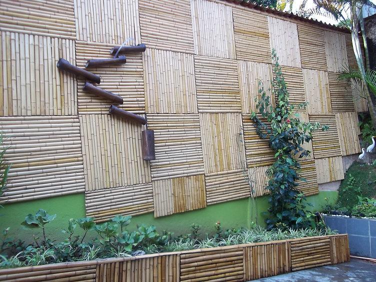 revestimento de bambu para area externa