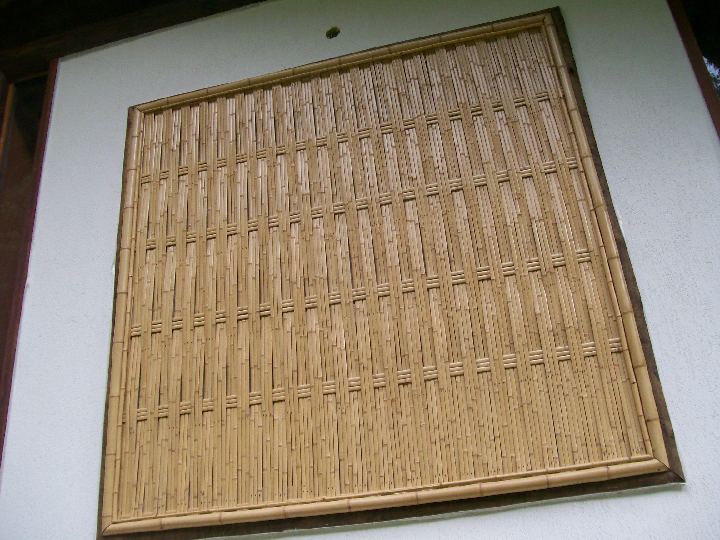 treliça de bambu