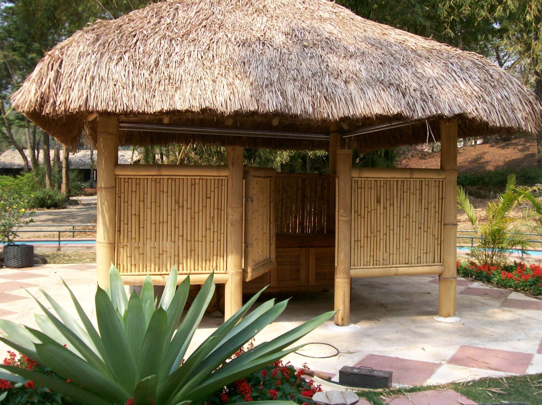 gasebo de bambu