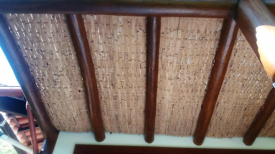 forro de bambu taquara trama simples