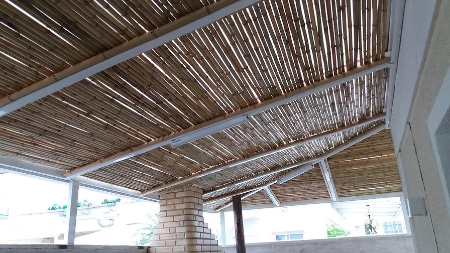 forro de bambu fininho