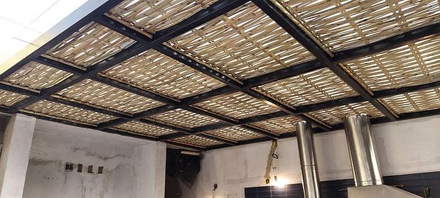 forro de bambu para pergolado
