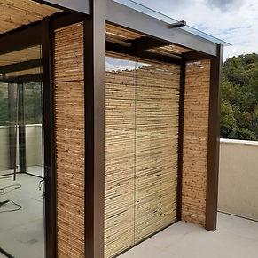 fechamento de bambu
