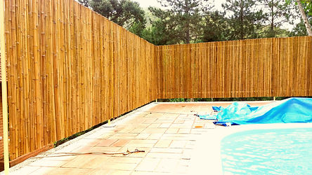 cerca de bambu para piscinas e fechamento para privacidade