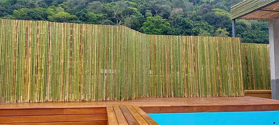 cerca de bambu simples