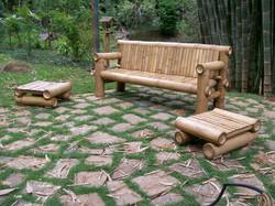 conjunto de bambu
