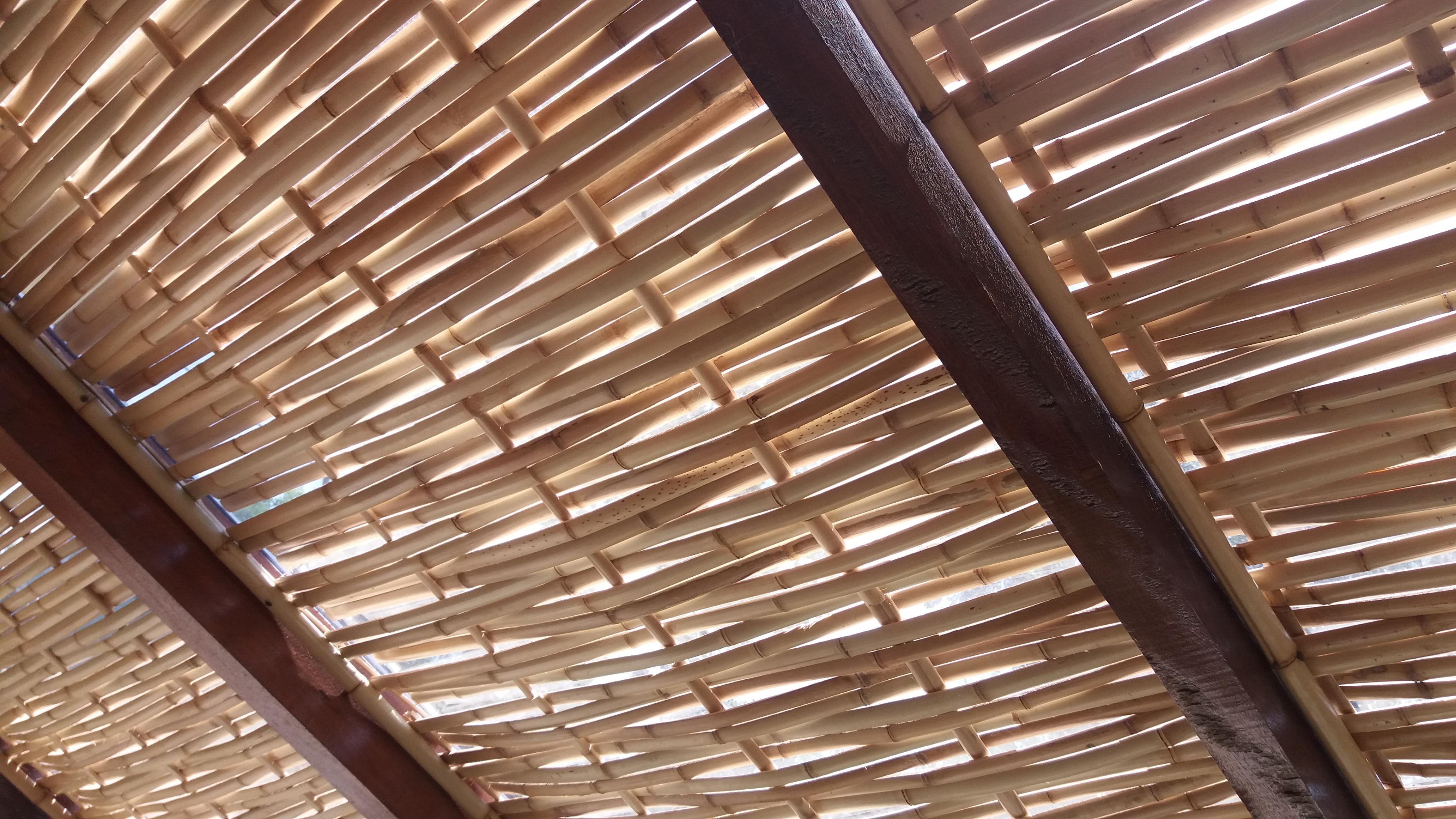 forro de palha de bambu