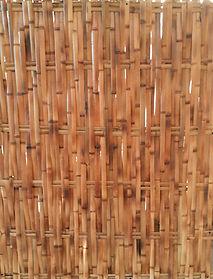 forro de bambu trançado