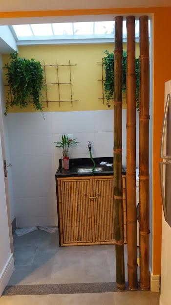 porta de armario de bambu