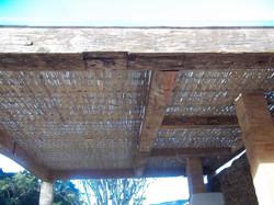 treliça de bambu para teto