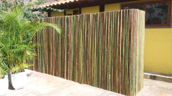 cerca de bambu,muro de bambu