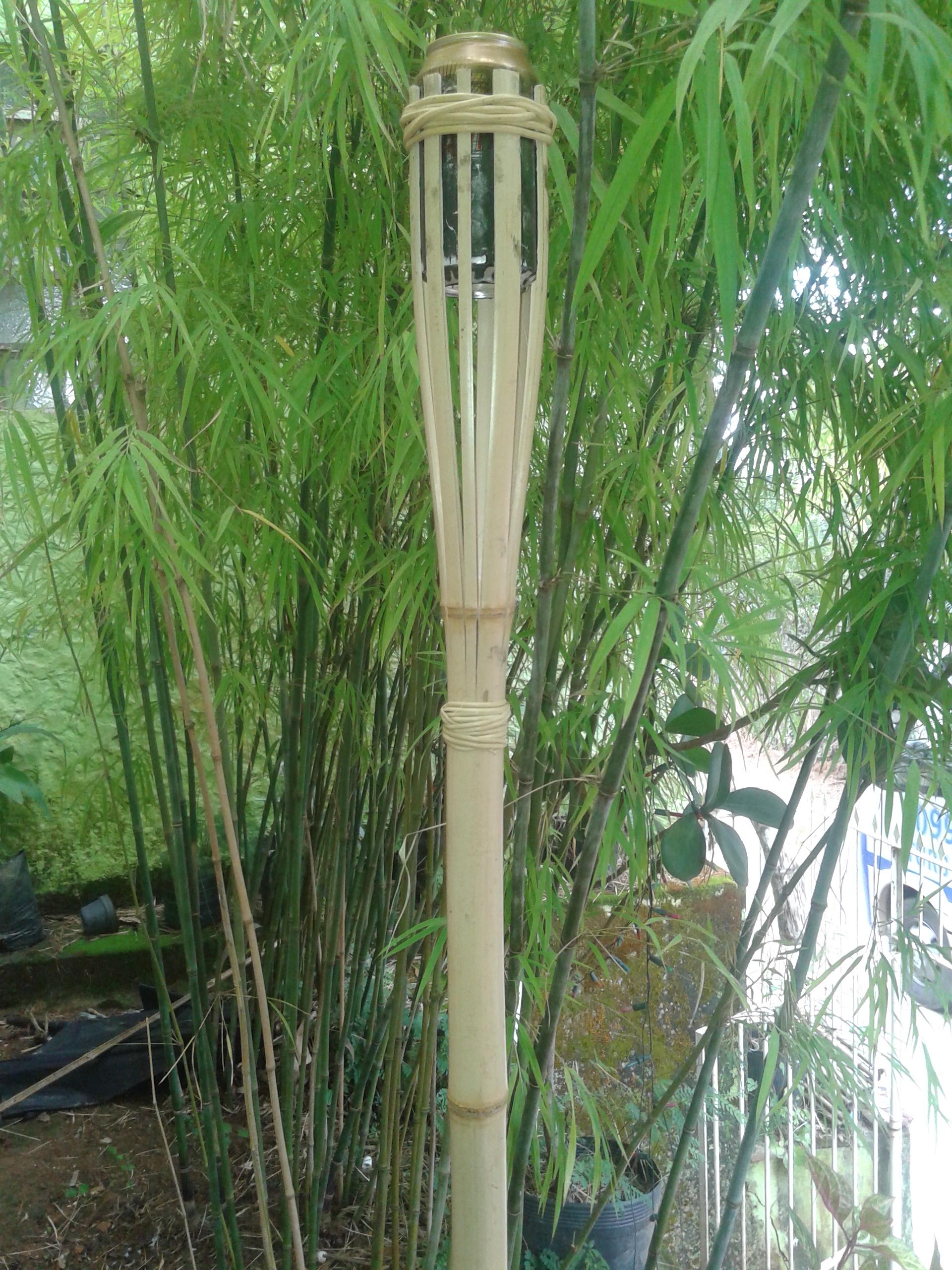 tocha de bambu