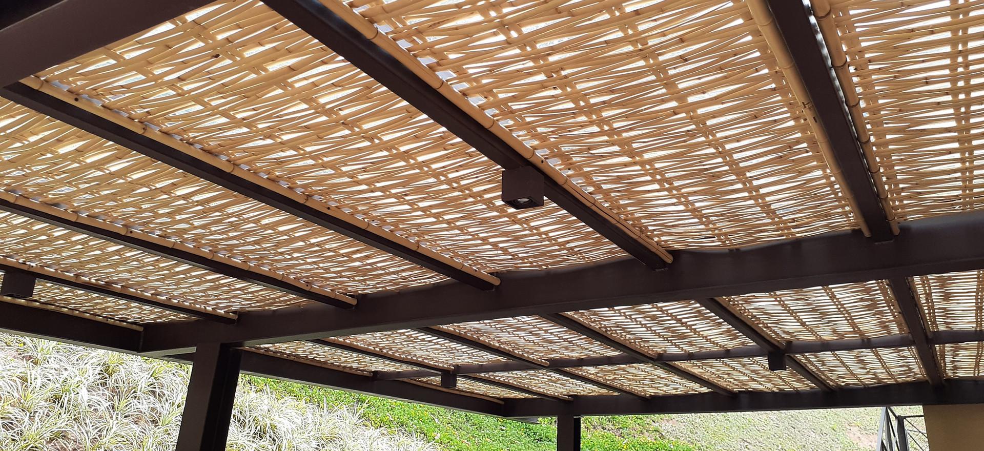 forro de bambu para