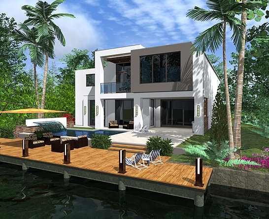 Dex homes modern luxury and sustainable south florida homes for Florida modern homes