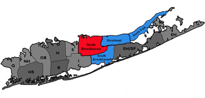 Service Map of Long Island