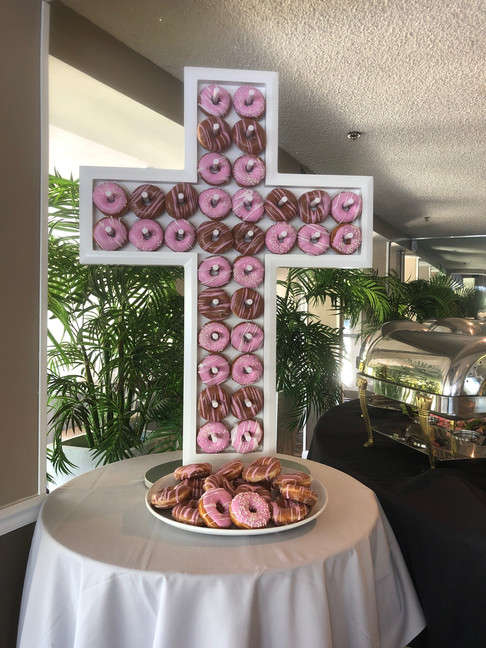"""""""Bless This Child"""" Donut Wall"""