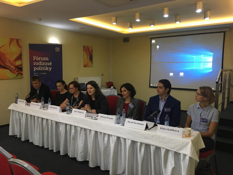 Fórum rodinné politiky Plzeň - Workshop  Ženy (a muži!) s dětmi na trhu práce; překážka nebo výhoda?
